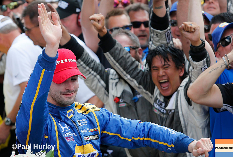 May 29: Alexander Rossi after the 100th Running of the Indianapolis 500.