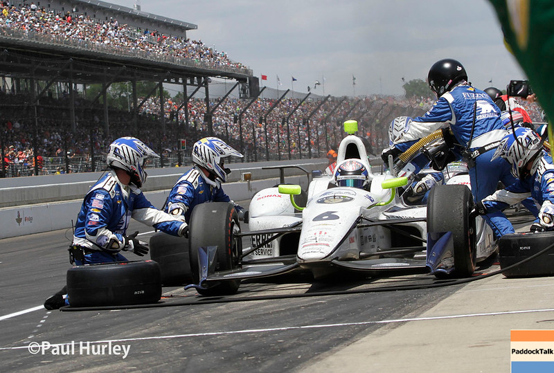 May 29: JR Hildebrand during the 100th Running of the Indianapolis 500.