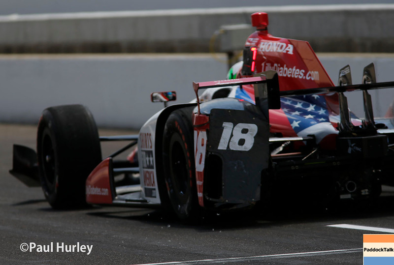 May 29: Conor Daly during the 100th Running of the Indianapolis 500.