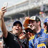 May 29: Brian Herta and Alexander Rossi after the 100th Running of the Indianapolis 500.