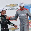 June 4-5:  Simon Pagenaud and Will Power after the Chevrolet Detroit Belle Isle Grand Prix.