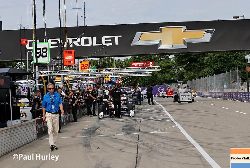 June 4-5:  Pit activity before the Chevrolet Detroit Belle Isle Grand Prix.