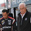 June 4-5: Helio Castroneves and Roger Penske during the Chevrolet Detroit Belle Isle Grand Prix.