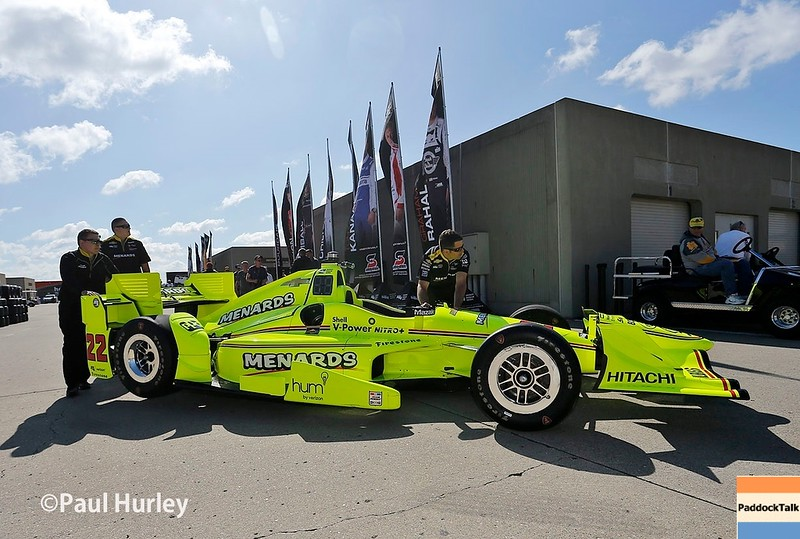 May 13-14: Simon Pagenaud's car at the Angie's List Grand Prix of Indianapolis.