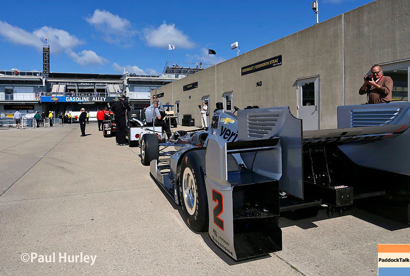 May 13-14: Juan Pablo Montoya's car at the Angie's List Grand Prix of Indianapolis.