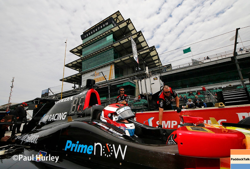 May 16-20: Mikhal Aleshin during practice for the 100th running of the Indianapolis 500.