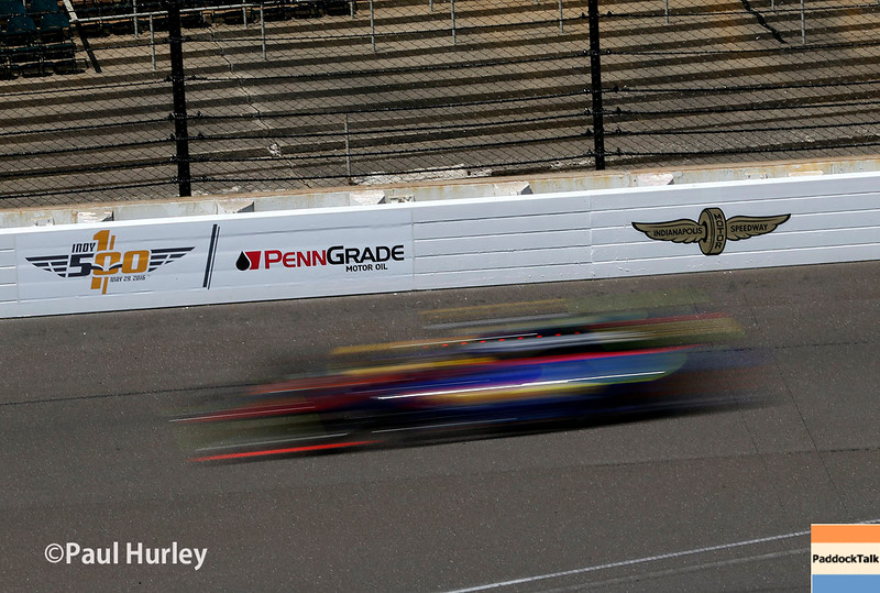 May 16-20: Matt Brabham during practice for the 100th running of the Indianapolis 500.