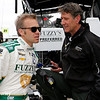 May 16-20: Ed Carpenter and Tony George during practice for the 100th running of the Indianapolis 500.