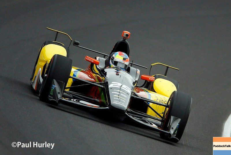 May 16-20: Stefan Wilson during practice for the 100th running of the Indianapolis 500.