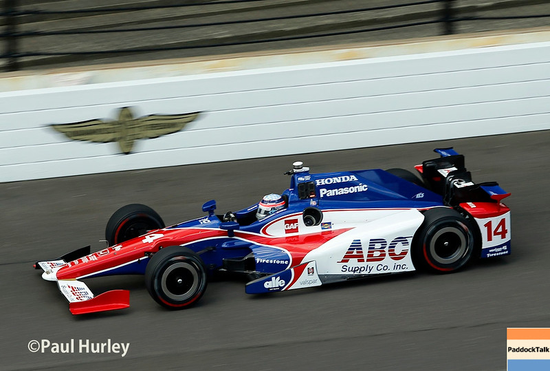 May 16-20: Takuma Sato during practice for the 100th running of the Indianapolis 500.