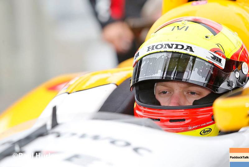 May 16-20: Spencer Pigot during practice for the 100th running of the Indianapolis 500.