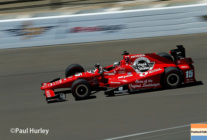 May 16-20: Graham Rahal during practice for the 100th running of the Indianapolis 500.
