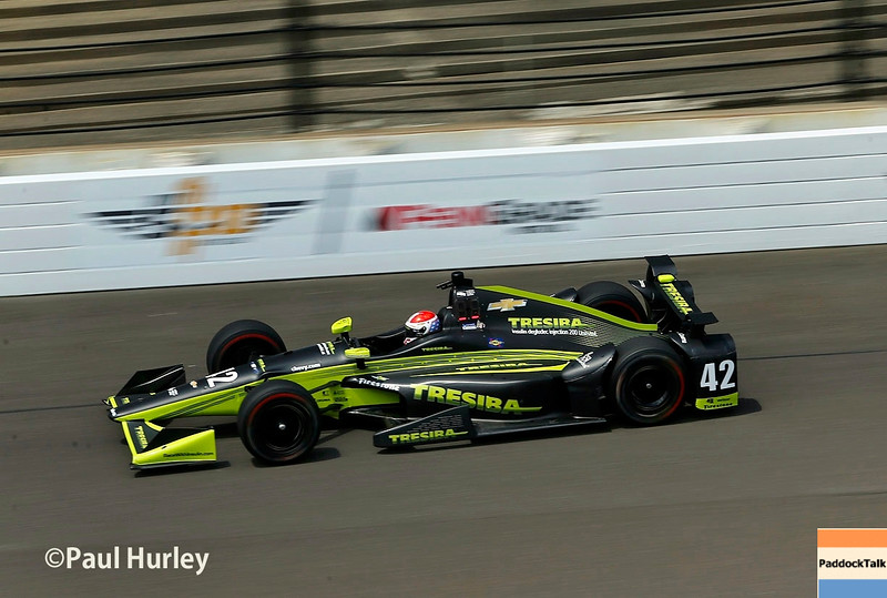 May 16-20: Charlie Kimball during practice for the 100th running of the Indianapolis 500.