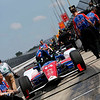 May 16-20: Takuma Sato's pit during practice for the 100th running of the Indianapolis 500.