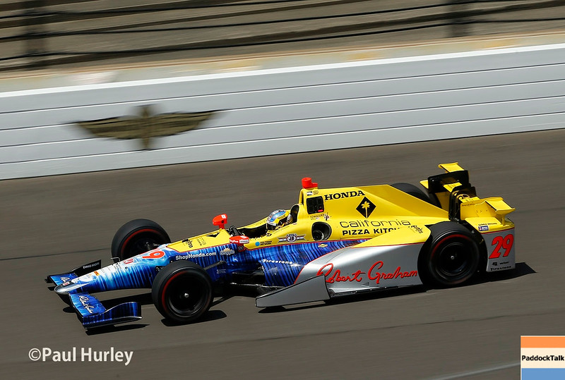 May 16-20: Townsend Bell during practice for the 100th running of the Indianapolis 500.