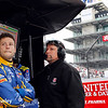 May 16-20: Marco and Michael Andretti during practice for the 100th running of the Indianapolis 500.
