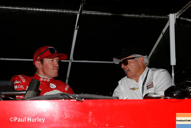 May 16-20: Scott Dixon and Mike Hall during practice for the 100th running of the Indianapolis 500.