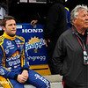 May 16-20: Marco and Mario Andretti during practice for the 100th running of the Indianapolis 500.