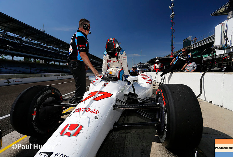 May 16-20: Oriol Servia during practice for the 100th running of the Indianapolis 500.