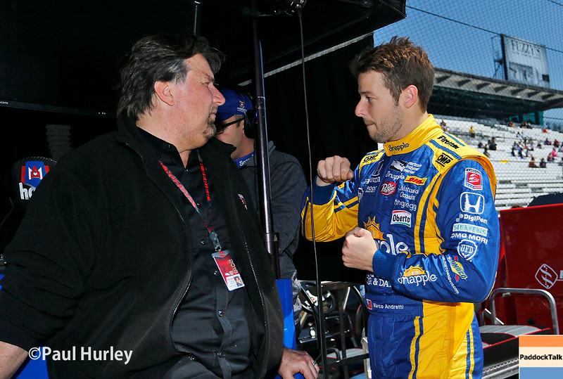May 16-20: Michael and Marco Andretti during practice for the 100th running of the Indianapolis 500.