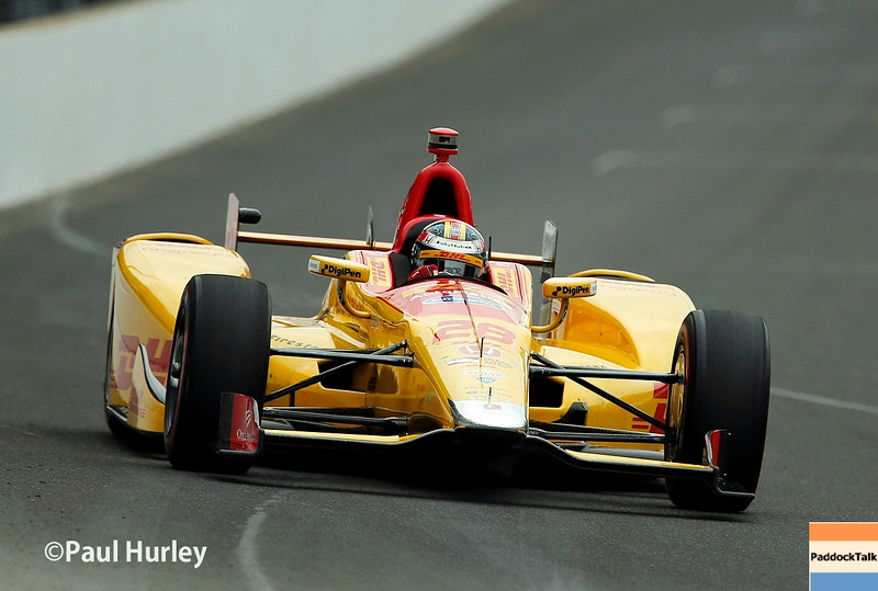 May 16-20: Ryan Hunter-Reay during practice for the 100th running of the Indianapolis 500.