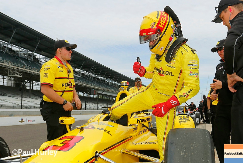May 16-20: Helio Castroneves during practice for the 100th running of the Indianapolis 500.