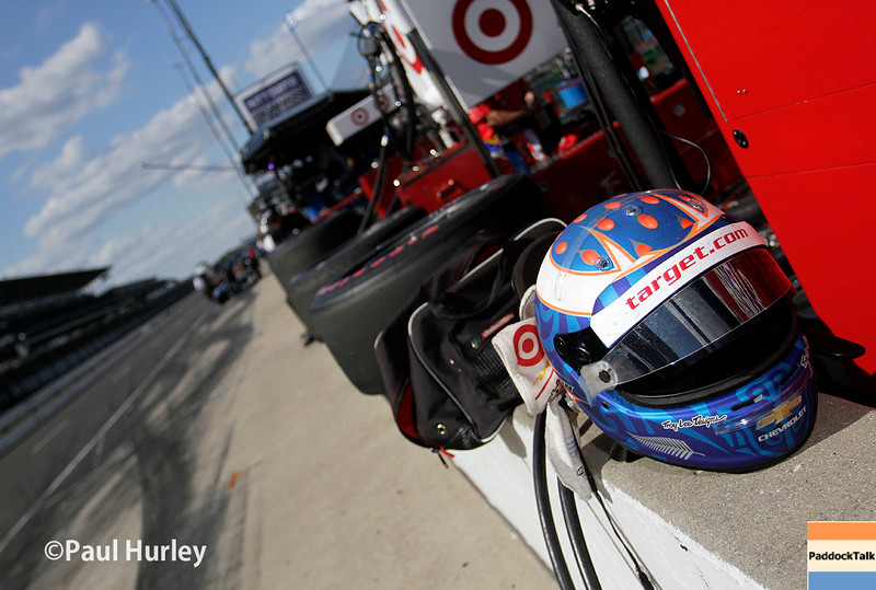 May 16-20: Scott Dixon's pit during practice for the 100th running of the Indianapolis 500.