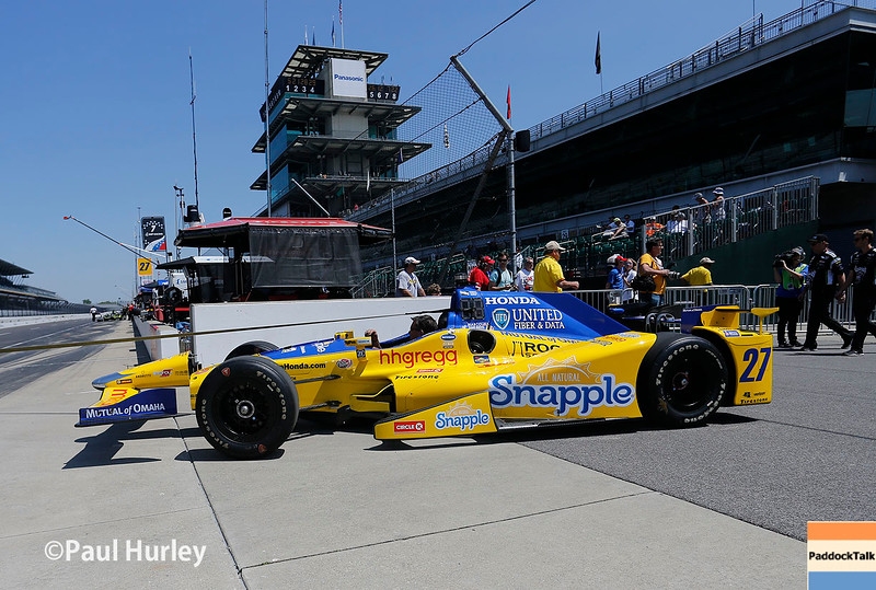 May 21-22: Marco Andretti's car during qualifications for the 100th running of the Indianapolis 500.