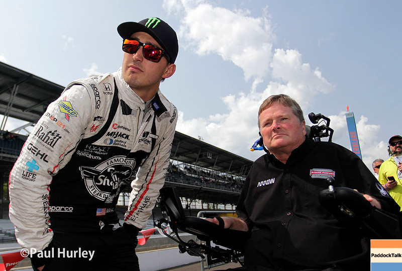 May 21-22:  Graham Rahal and Sam Schmidt during qualifications for the 100th running of the Indianapolis 500.