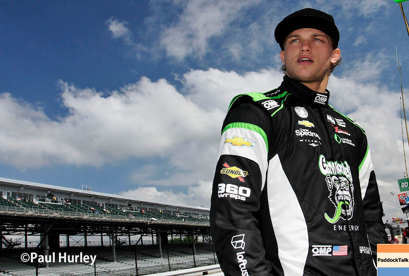 May 21-22:  Sage Karam during qualifications for the 100th running of the Indianapolis 500.
