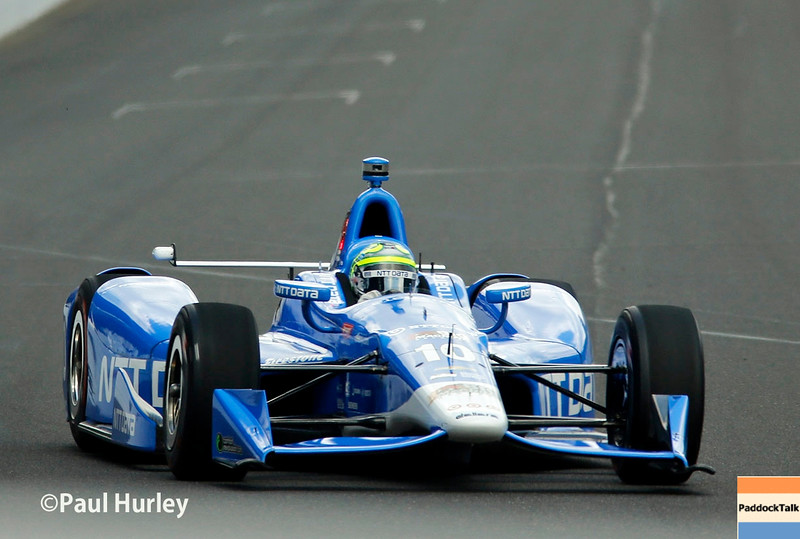 May 21-22:  Tony Kanaan during qualifications for the 100th running of the Indianapolis 500.