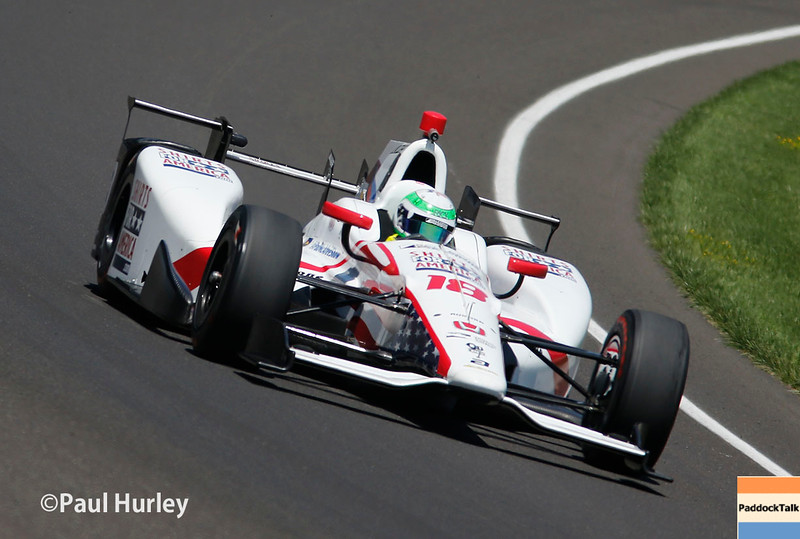 May 21-22: Conor Daly during qualifications for the 100th Running of the Indianapolis 500.