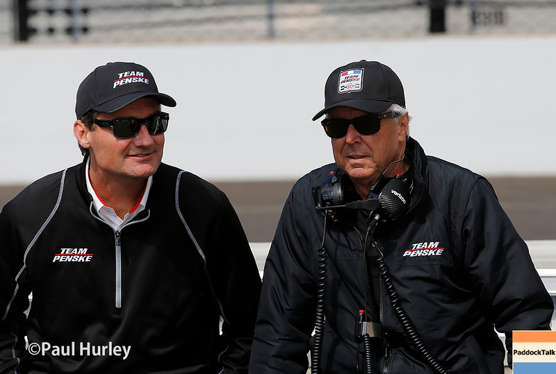 May 21-22:  Tim Cindric and Rick Mears during qualifications for the 100th running of the Indianapolis 500.