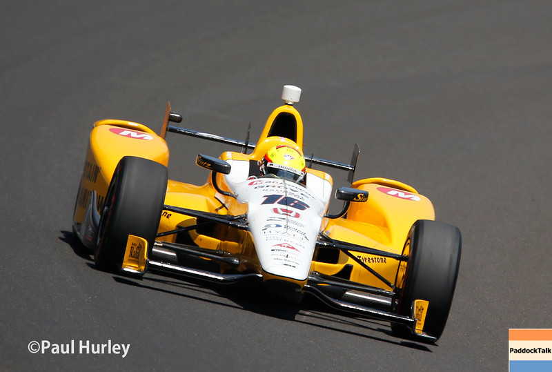 May 21-22:  Spencer Pigot during qualifications for the 100th running of the Indianapolis 500.