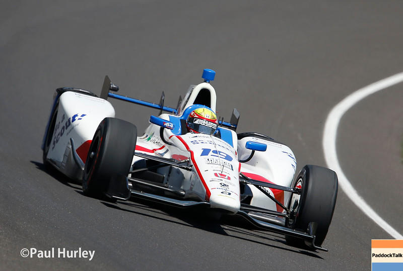 May 21-22:  Gabby Chaves during qualifications for the 100th running of the Indianapolis 500.