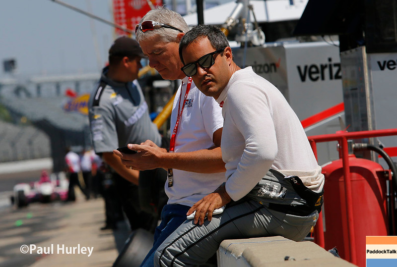May 21-22: Juan Pablo Montoya during qualifications for the 100th running of the Indianapolis 500.