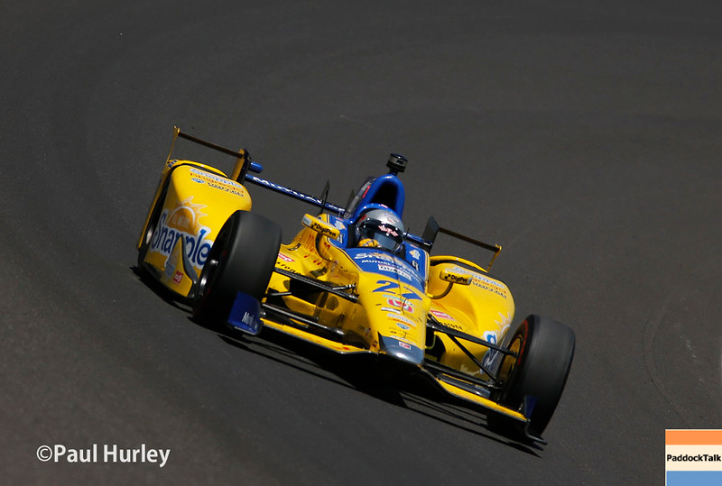 May 21-22: Marco Andretti during qualifications for the 100th Running of the Indianapolis 500.