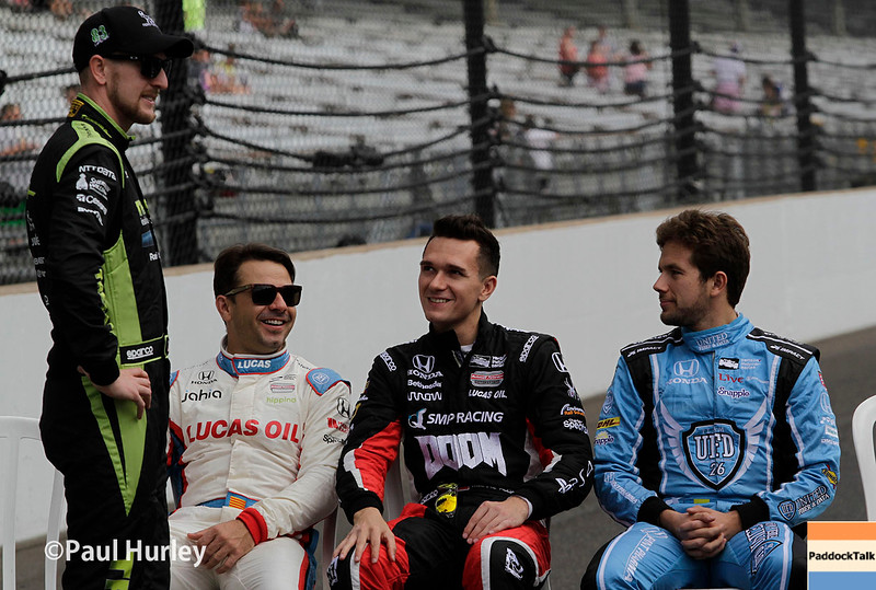 May 27: Drivers during Carb Day for the 100th Running of the Indianapolis 500.
