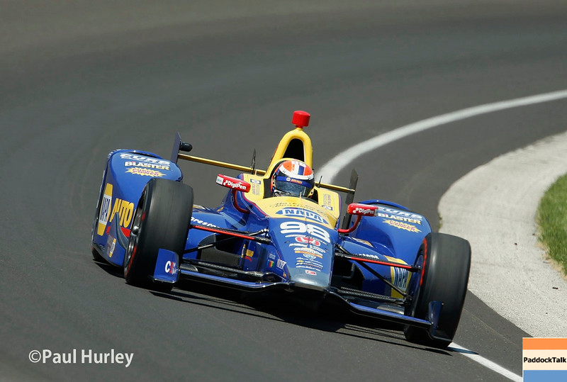 May 21-22:  Alexander Rossi during qualifications for the 100th running of the Indianapolis 500.