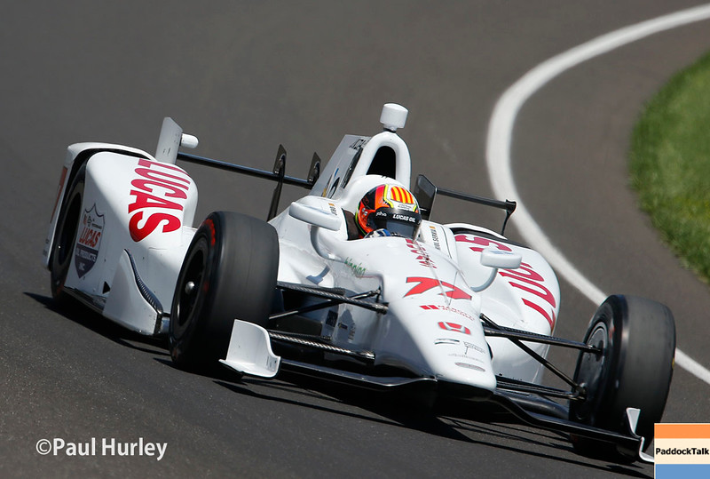May 21-22: Oriol Servia during qualifications for the 100th running of the Indianapolis 500.
