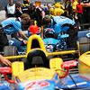 May 21-22: Pit action during qualifications for the 100th running of the Indianapolis 500.