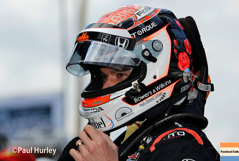 May 21-22: Alex Tagliani during qualifications for the 100th running of the Indianapolis 500.