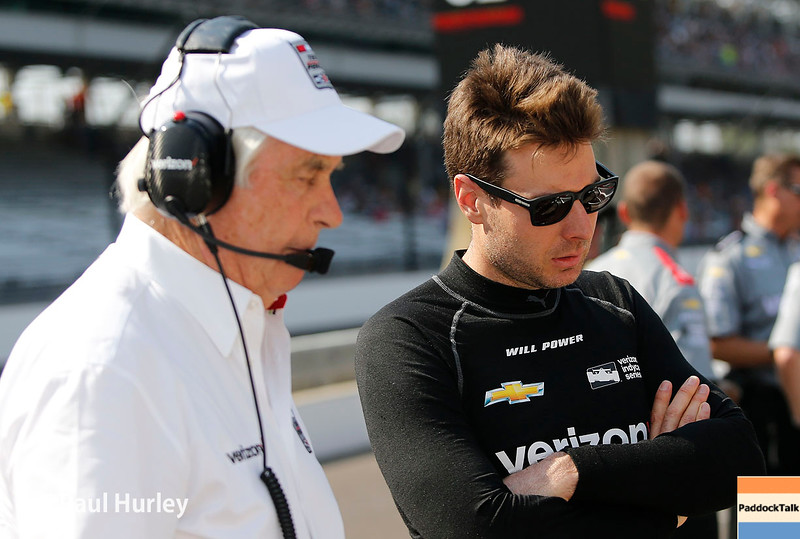 May 21-22: Roger Penske and Will Power during qualifications for the 100th running of the Indianapolis 500.
