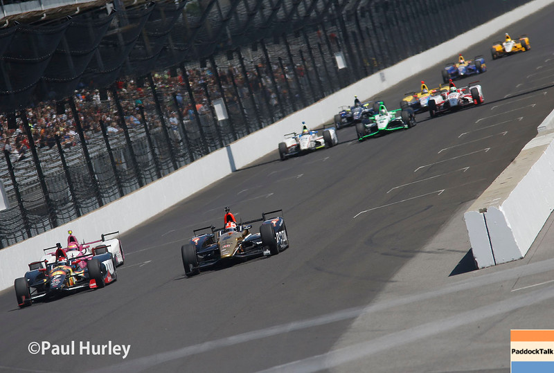 May 27: Track action during Carb Day for the 100th Running of the Indianapolis 500.