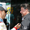 May 21-22: Oriol Servia and Michael Andretti during qualifications for the 100th running of the Indianapolis 500.