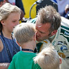 May 21-22: Ed Carpenter and kids during qualifications for the 100th running of the Indianapolis 500.