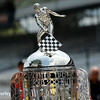 May 21-22:  The Borg Warner Trophy during qualifications for the 100th running of the Indianapolis 500.