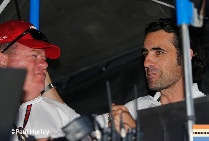 May 21-22: Chip Ganassi and Dario Franchittiduring qualifications for the 100th running of the Indianapolis 500.