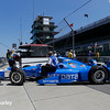 May 21-22: Tony Kanaan's car during qualifications for the 100th running of the Indianapolis 500.