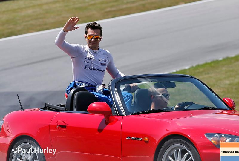 July 30-31:  Mikhail Aleshin before The Honda Indy 200 at Mid-Ohio.